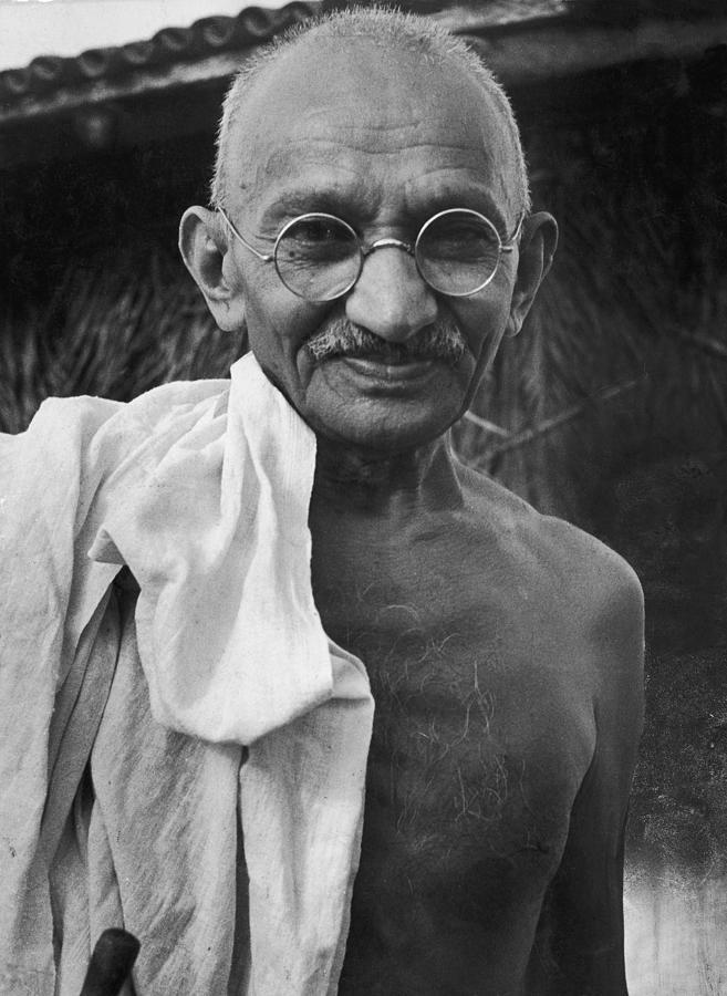 Mohandas K. Gandhi Photograph by Wallace Kirkland