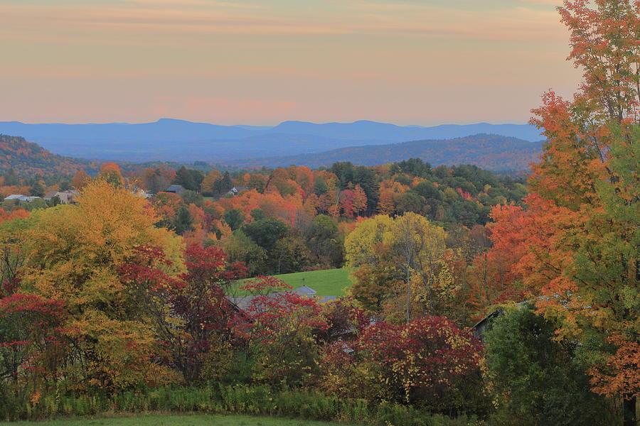 Mohawk Trail Autumn Evening by John Burk