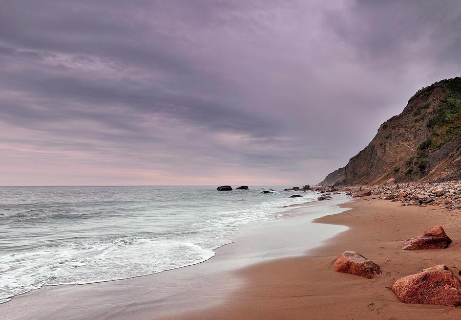 Mohegan Bluffs Beach- Block Island Photograph by Shobeir Ansari