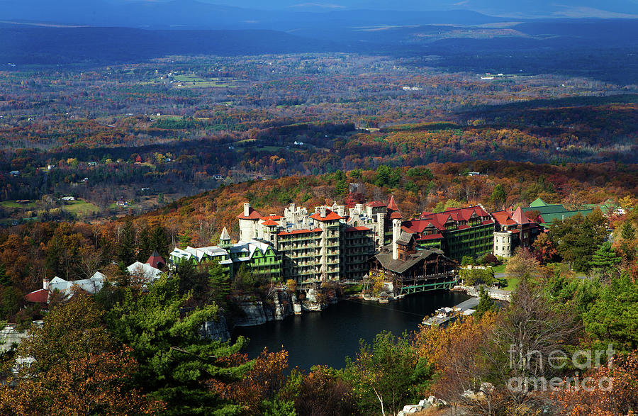 Mohonk Mountain House Elevated View Photograph by Henry C