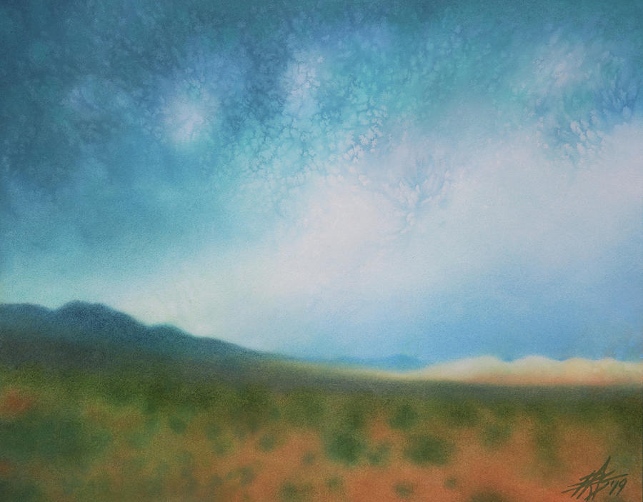 Landscape Painting - Mojave Wilderness by Robin Street-Morris