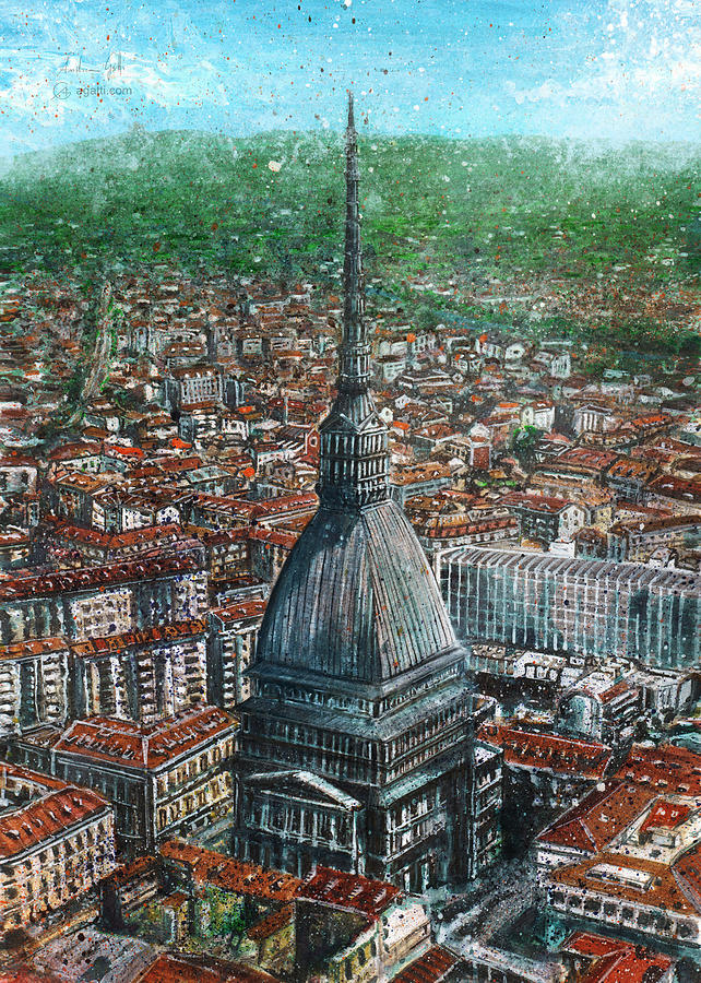 Mole Antonelliana Painting Digital Art