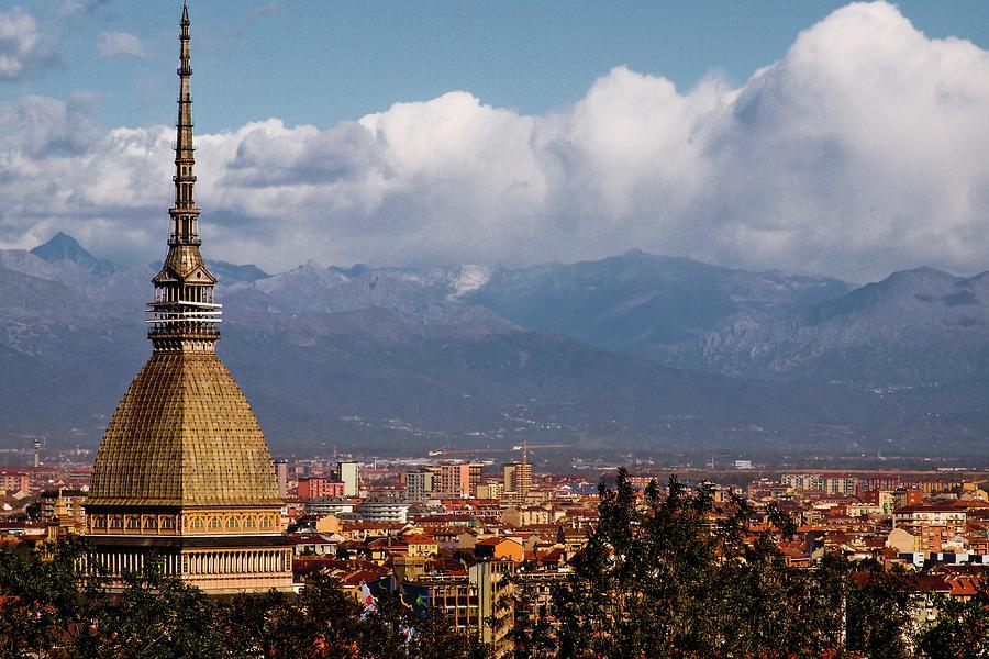 Mole Antonelliana, Torino And Alps Photograph by Rodolfo Rodríguez Castro