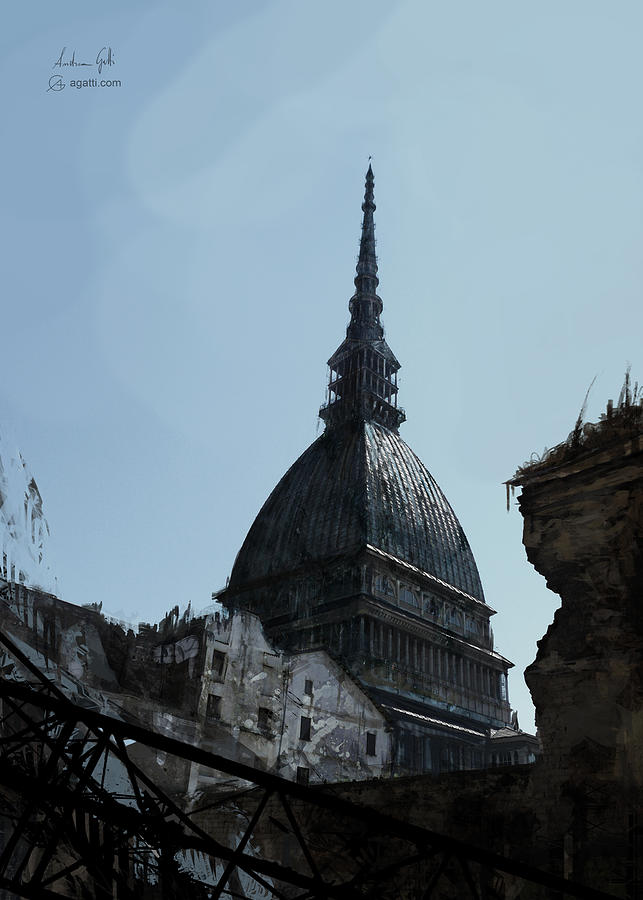Mole View, Turin, Overpaint. Mole View, Torino, Digitale. Digital Art