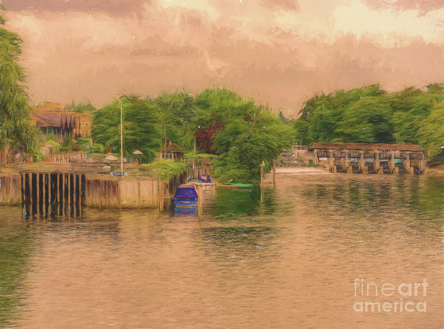 River Thames Photograph - Molesey Lock And Weir by Leigh Kemp