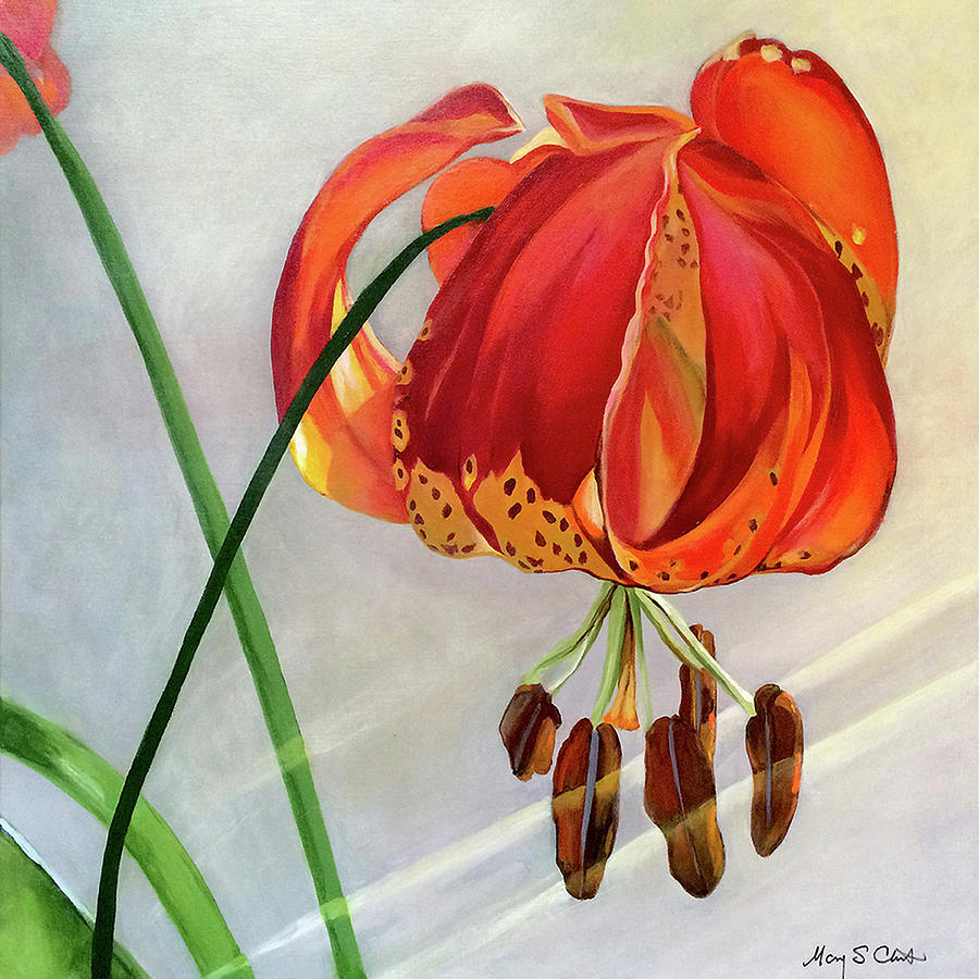 Acrylic Painting - Moment in the Sun - Lily by Mary Chant