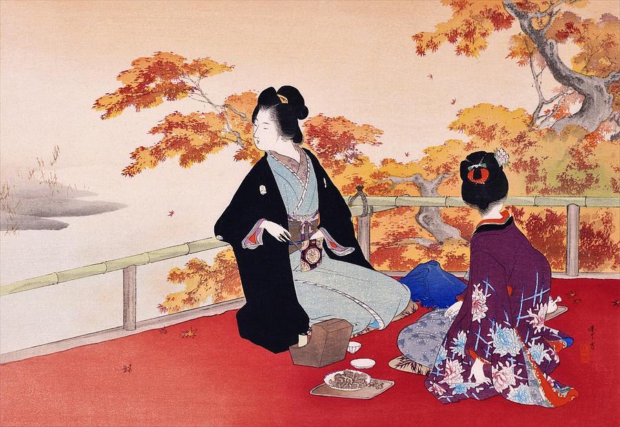 Fall Painting - Momijigari - Top Quality Image Edition by Mizuno Toshikata
