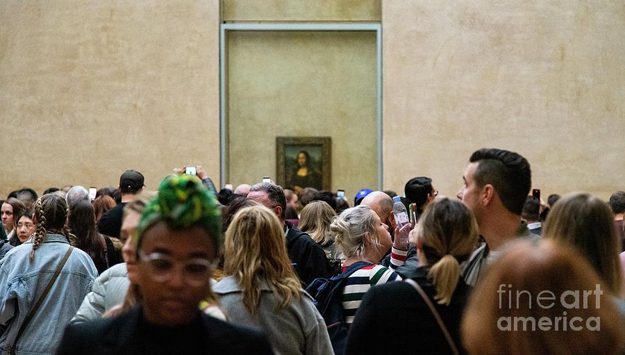 Paris Photograph - Mona Lisa Leonardo Da Vinci Louvre Paris France by Wayne Moran