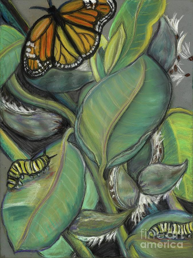 Butterflies Pastel - Monarch Series I by Ann Hoff