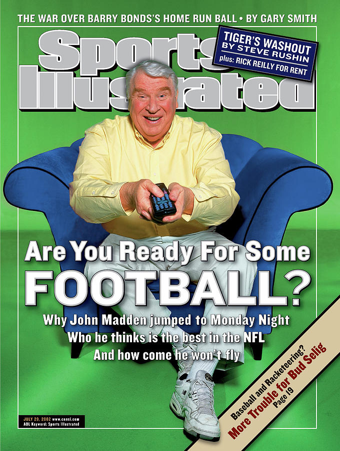 Monday Night Football Announcer John Madden Sports Illustrated Cover Photograph by Sports Illustrated