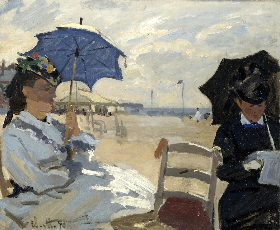 Monet, Claude - The Beach At Trouville Painting