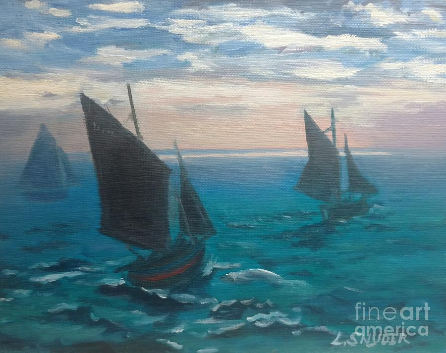 Monet's Boats Leaving the Harbor by Liz Snyder