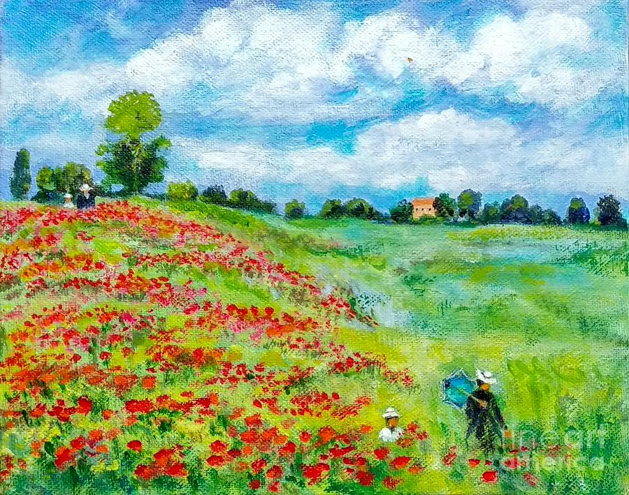 Monet's Poppy Field by Asha Sudhaker Shenoy