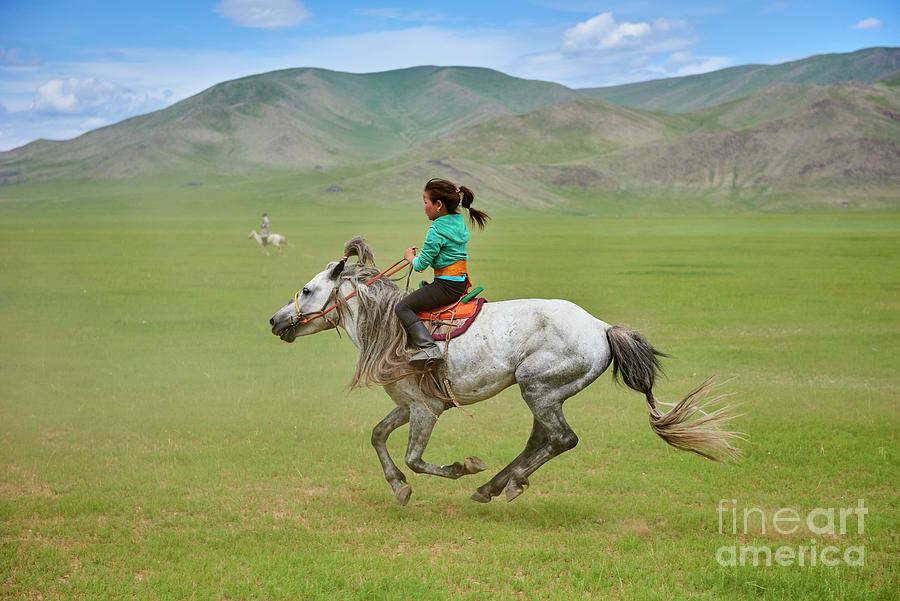 Mongolia, Naadam Festival, Horse Racing Photograph by Tuul & Bruno Morandi