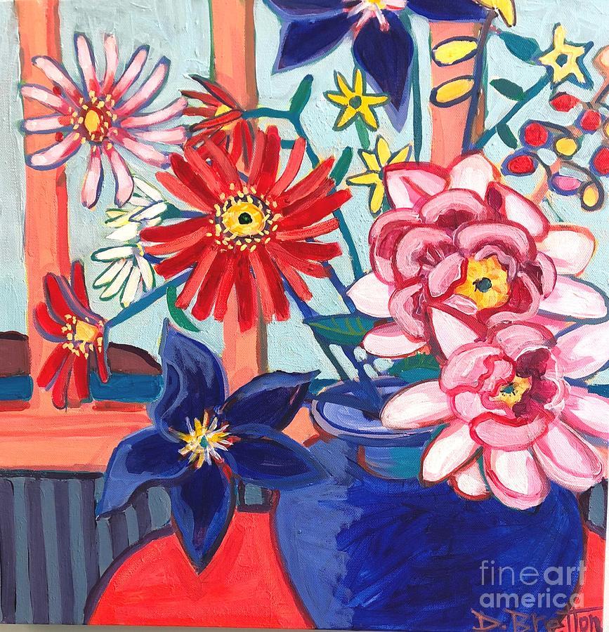 Flowers Painting - Monhegan Island Bouquet by Debra Bretton Robinson