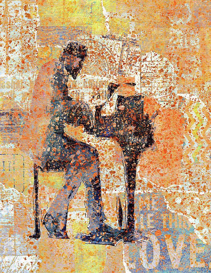 Thelonious Monk Digital Art - Monk Abstractedly by Regina Wyatt