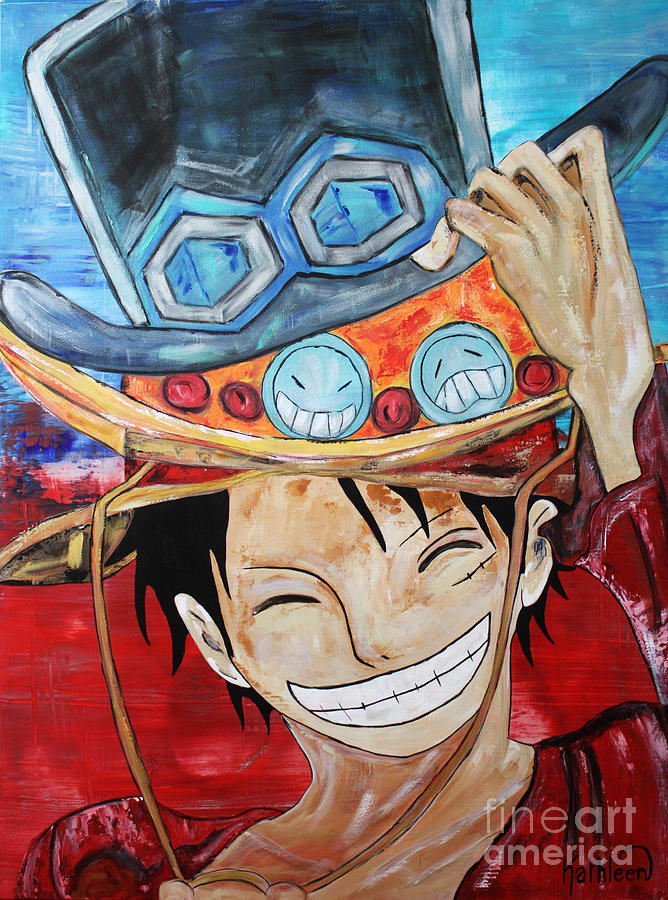 Monkey D Luffy Hats Painting