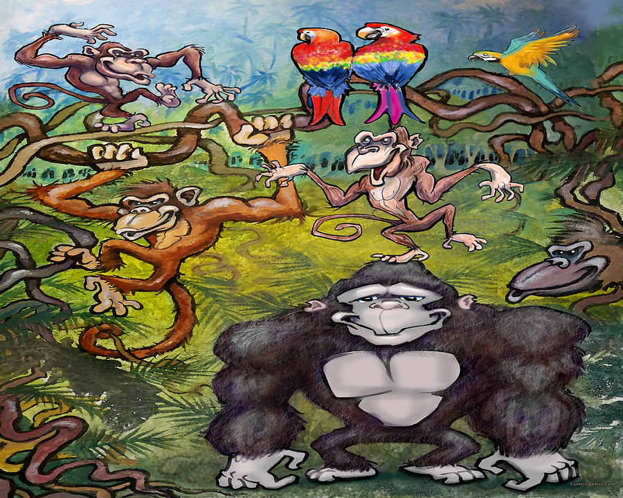 Monkey Fun Digital Art