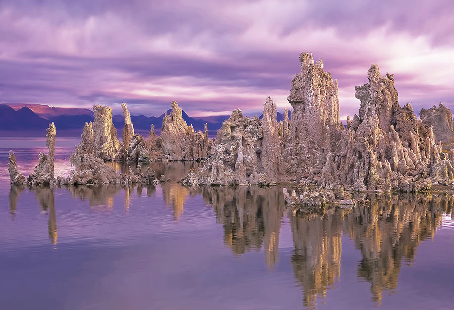Mono Lake Tufa Reflection Photograph by Provided By Jp2pix.com