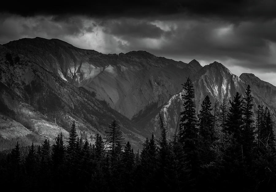 Monochrome Mountain Moment by Dan Sproul