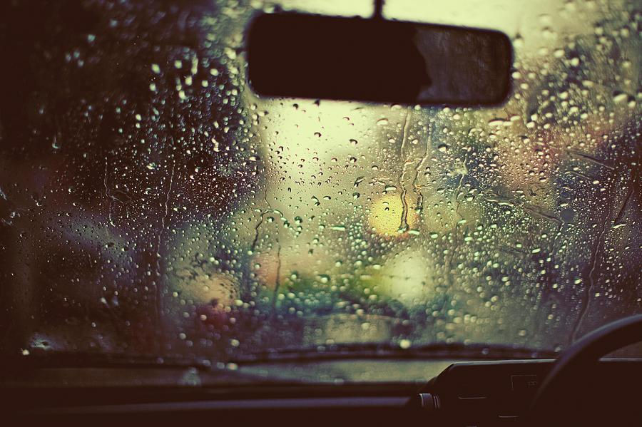 Monsoon Rain On A Windshield Photograph by Design Pics / Arlene Bax