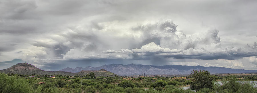 Monsoon Storms Over The Catalinas by ELAINE MALOTT