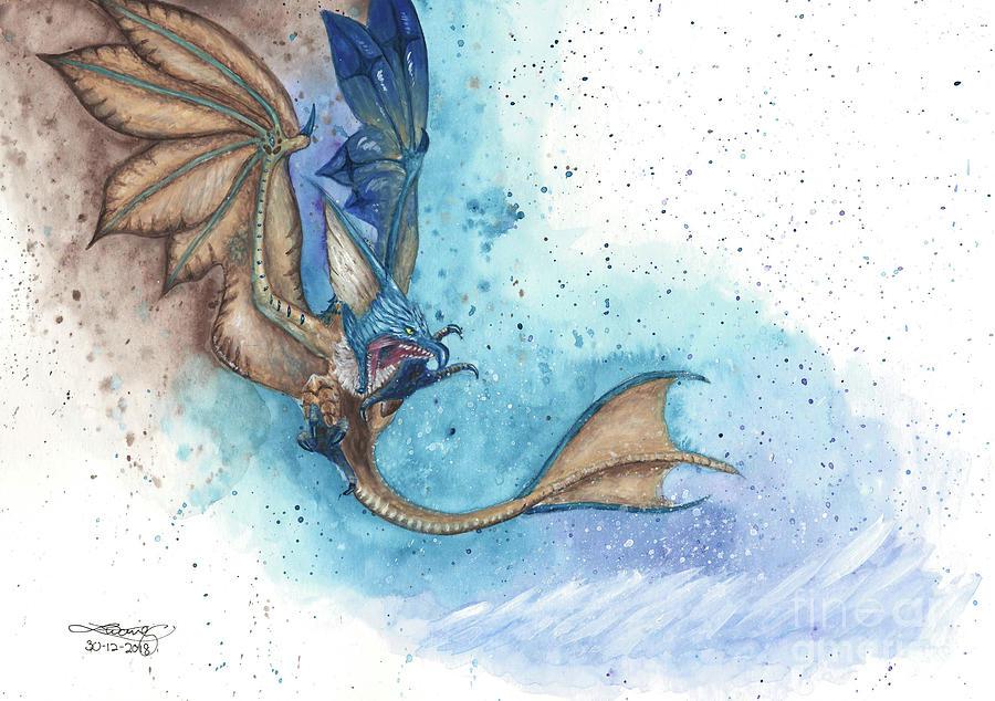 Gouache Painting - Monster Hunter Legiana by Elise Wong