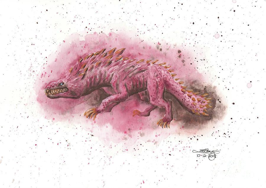 Gouache Painting - Monster Hunter Odogaron by Elise Wong
