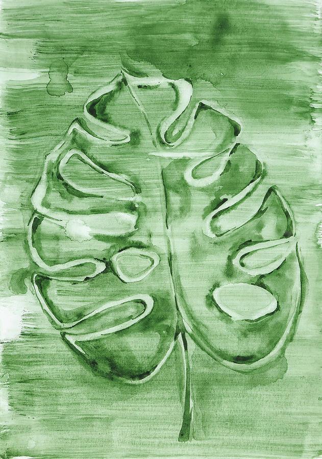 Monstera Leaf by Maria Arnaudova