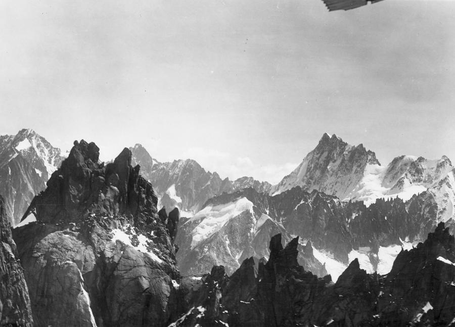 Mont Blanc Peaks Photograph by Three Lions