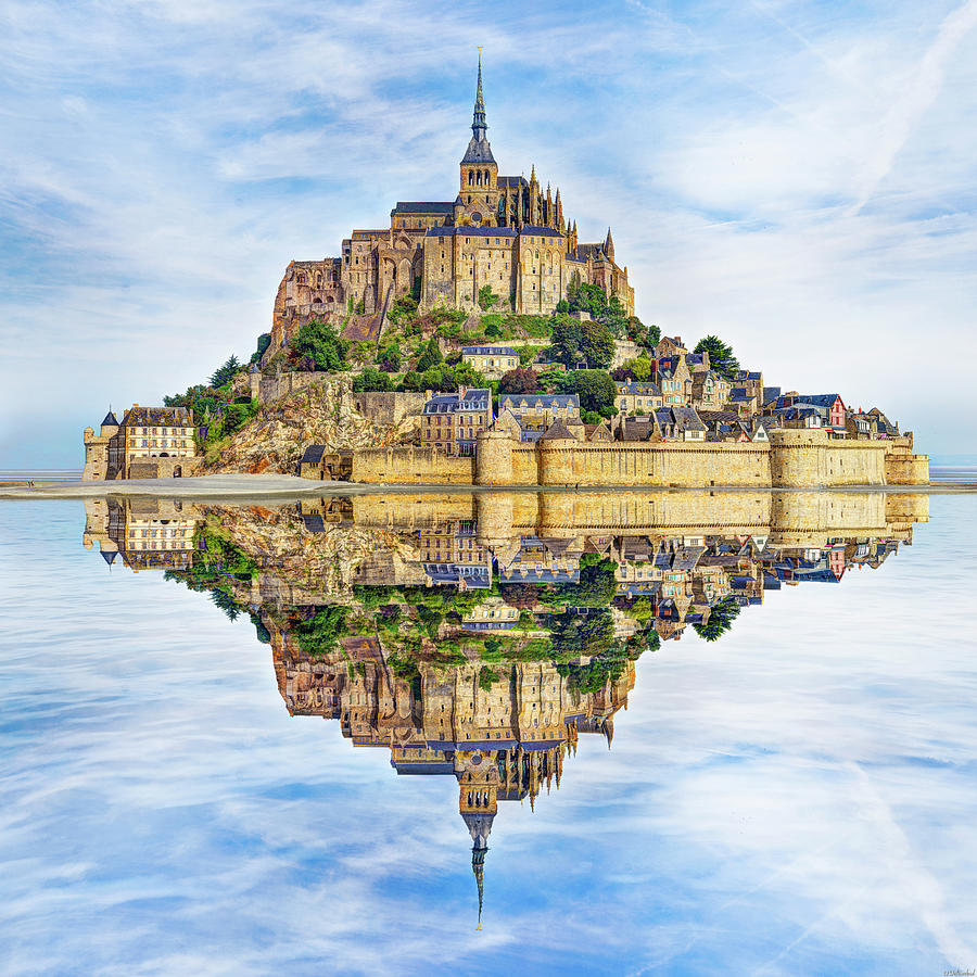 Mont Saint Michel Reflection by Weston Westmoreland