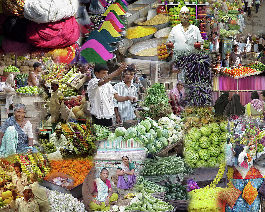 Montage -  India  Markets, food and people by Steve Estvanik