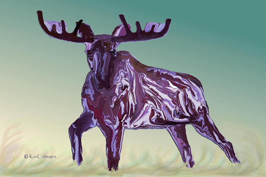 Montana Moose 2 by Kae Cheatham