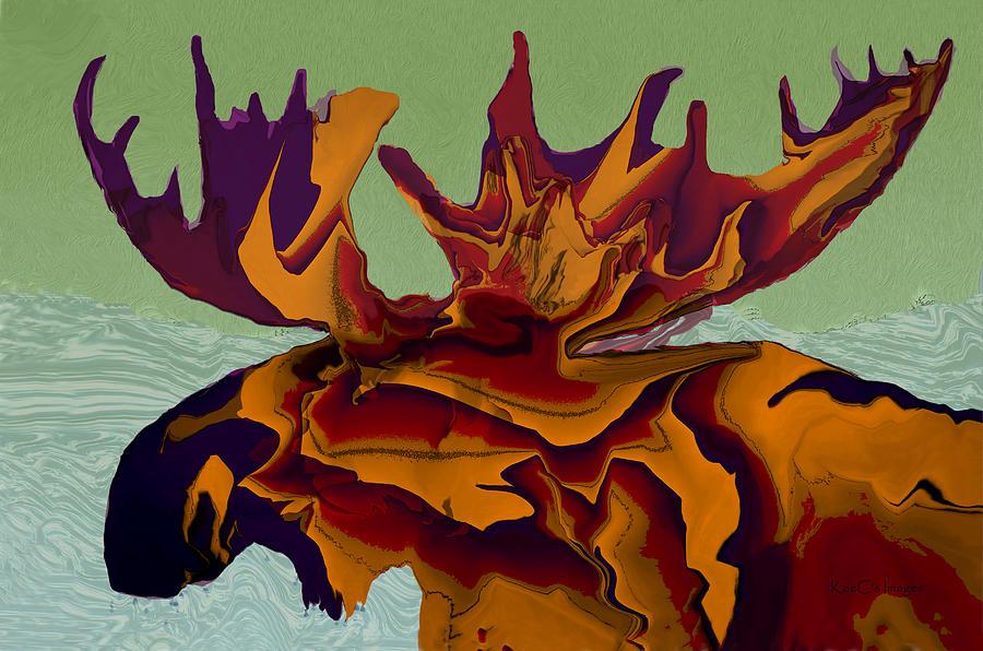 Montana Moose Amber by Kae Cheatham