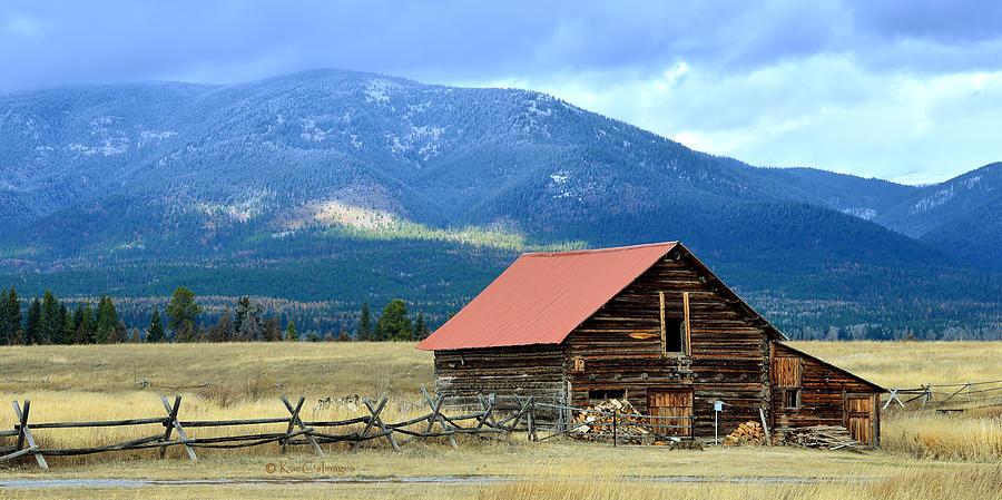 Montana Ranch Building by Kae Cheatham