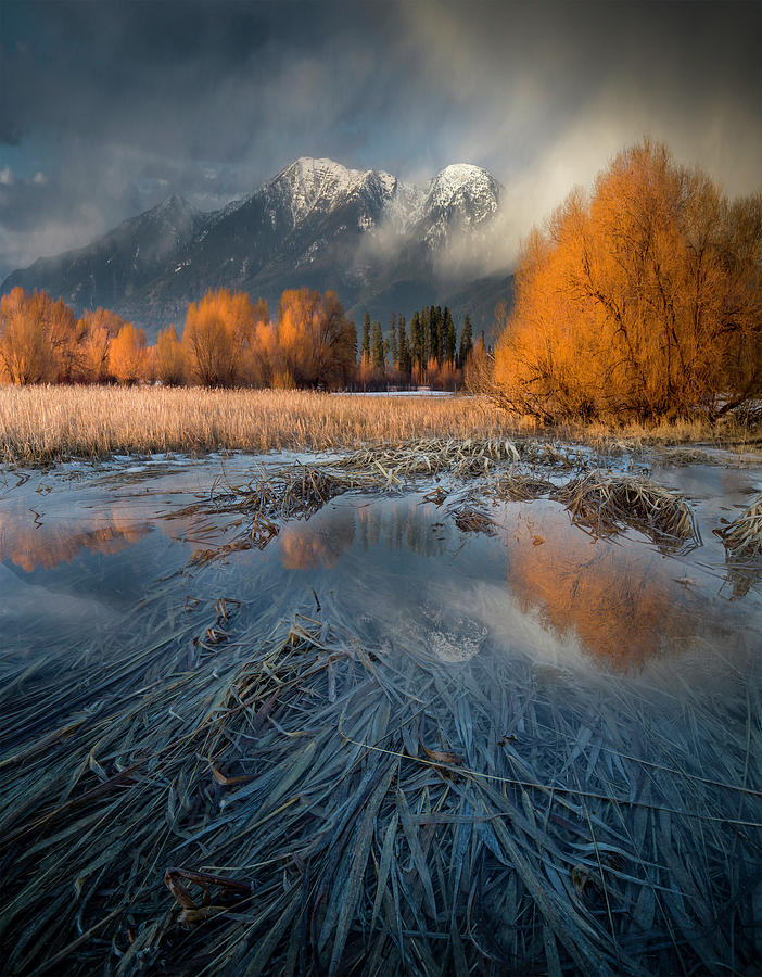 Montana Spring Storm / Bigfork, Montana by Nicholas Parker