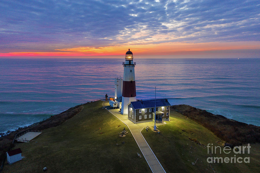 Montauk Lighthouse at Dawn by Sean Mills