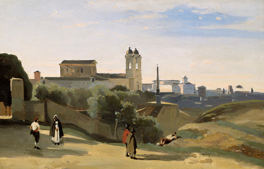 French Painters Painting - Monte Pincio, Rome by Jean-Baptiste-Camille Corot