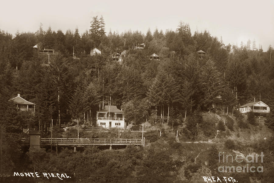 MONTE RIO, CA Russian River, Sonoma County J B Rhea 1907  by California Views Archives Mr Pat Hathaway Archives