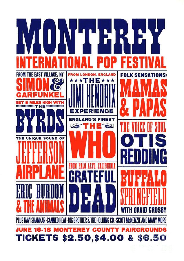 Monterey Pop Festival Mixed Media - Monterey Pop Festival, poster by Thomas Pollart