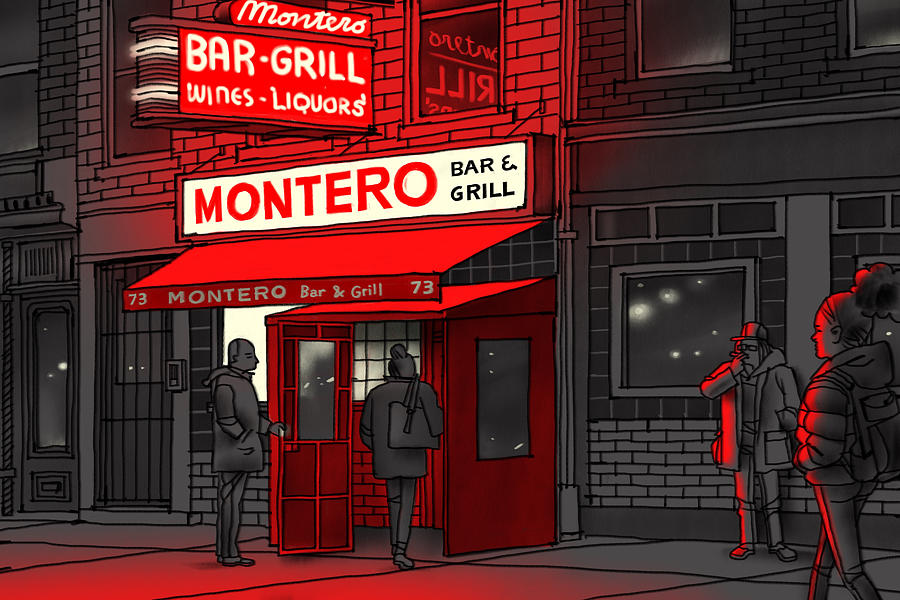 Montero Bar and Grill  Drawing by Jorge Colombo