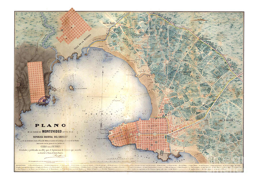 Montevideo map by Unknown