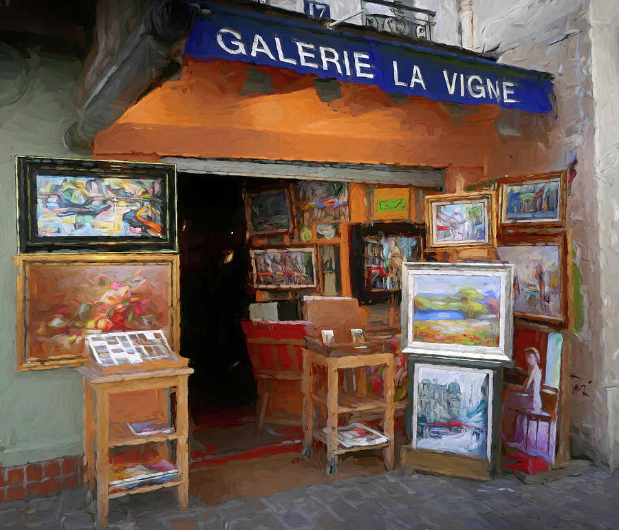 Montmartre Art Shop Impressionism Style by David Smith