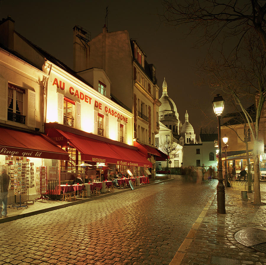 Montmartre District With Sacre-coeur At Photograph by Gary Yeowell