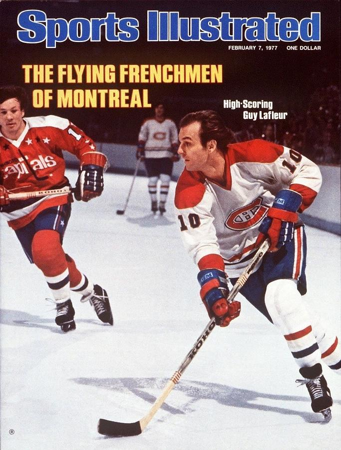 Montreal Canadiens Guy Lafleur... Sports Illustrated Cover Photograph by Sports Illustrated
