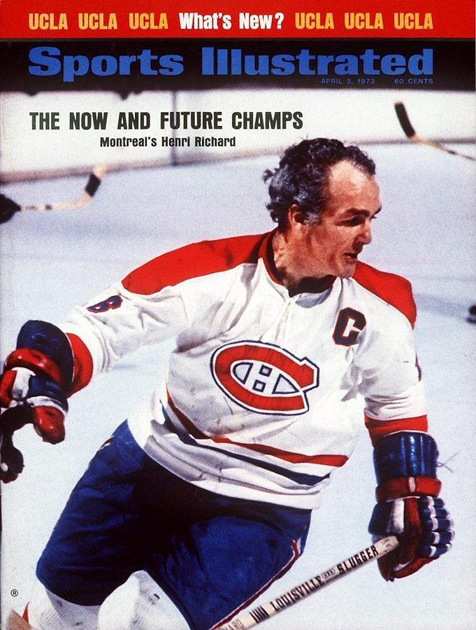 Montreal Canadiens Henri Richard... Sports Illustrated Cover Photograph by Sports Illustrated