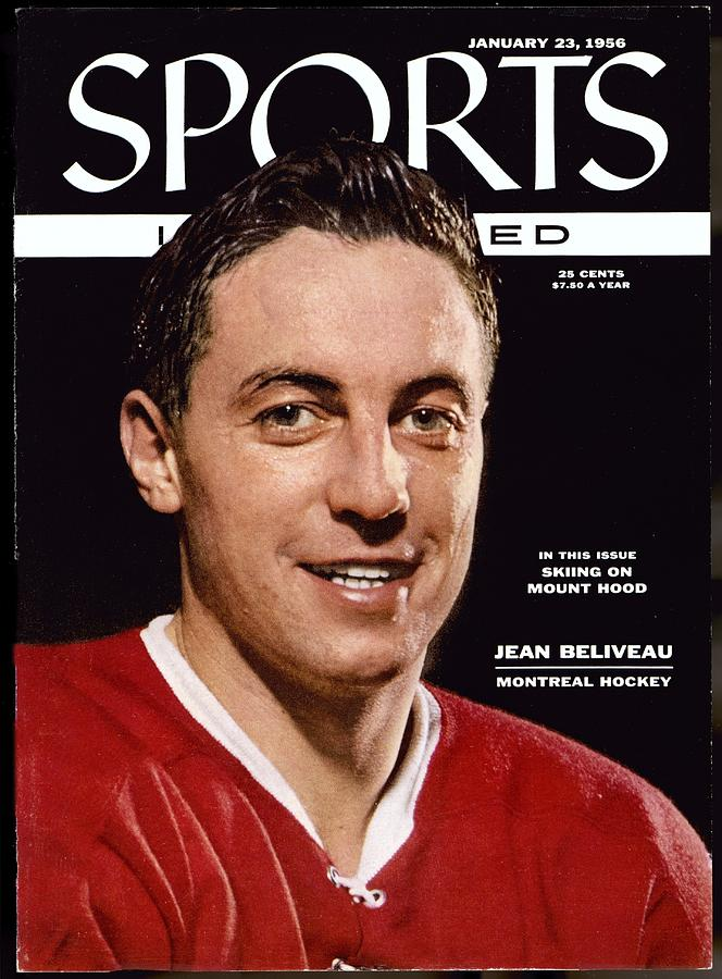 Montreal Canadiens Jean Beliveau Sports Illustrated Cover Photograph by Sports Illustrated