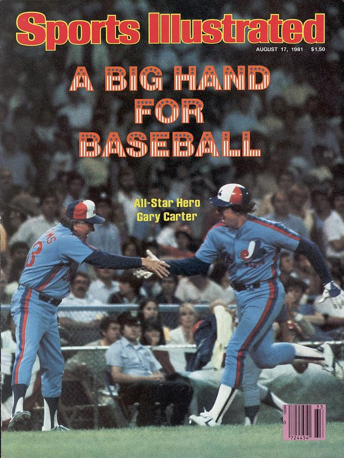 Montreal Expos Gary Carter, 1981 Mlb All Star Game Sports Illustrated Cover Photograph by Sports Illustrated