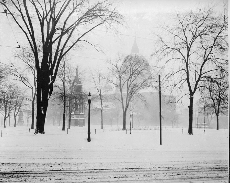 Montreal In Winter Photograph by Fox Photos