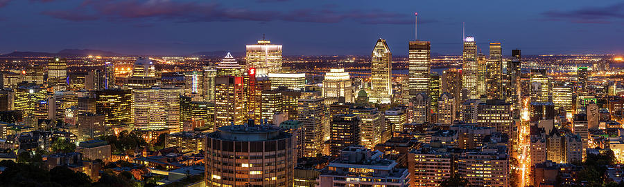Montreal panorama at night by Pierre Leclerc Photography